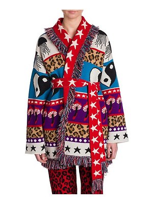 ALANUI psychedelic mushrooms cashmere-blend cardigan