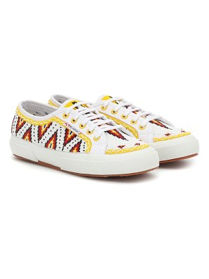 ALANUI x superga® beaded sneakers
