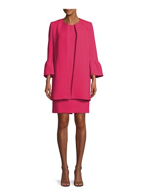 Albert Nipon Two-Piece Trumpet-Sleeve Coat & Mini Dress