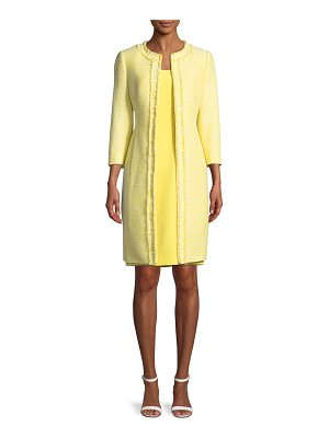 Albert Nipon TWO-PIECE COAT & DRESS SET