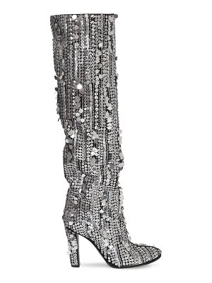 ALBERTA FERRETTI 100mm sequined tall boots