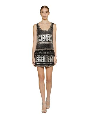 ALBERTA FERRETTI Embellished silk chiffon mini dress