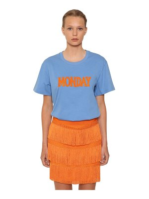 ALBERTA FERRETTI Embroidered cotton jersey t-shirt