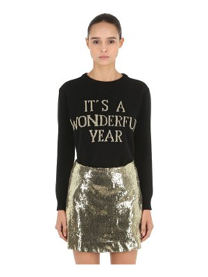 ALBERTA FERRETTI Happy new year knit sweater