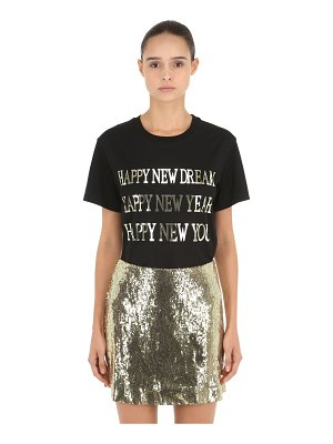 ALBERTA FERRETTI Happy new year silk jersey t-shirt