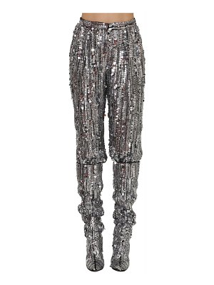 ALBERTA FERRETTI High waisted sequined pants