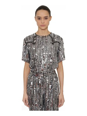 ALBERTA FERRETTI Sequined top