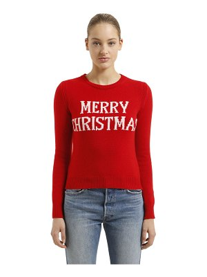 ALBERTA FERRETTI Slim merry christmas wool blend sweater
