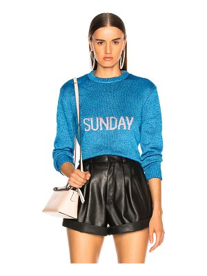 ALBERTA FERRETTI Sunday Lurex Crewneck Sweater
