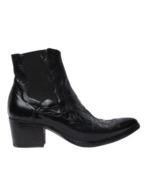 ALBERTO FASCIANI 40mm leather cowboy ankle boots
