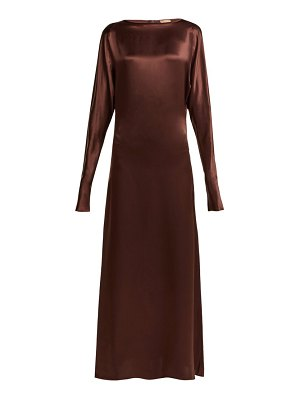 ALBUS LUMEN alma silk-satin maxi dress