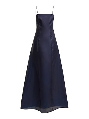 ALBUS LUMEN noche silk-organza maxi dress