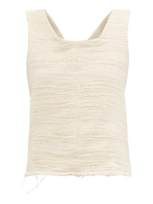 ALBUS LUMEN petram cotton-blend gauze cropped top