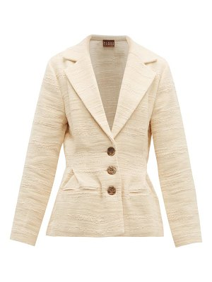 ALBUS LUMEN safi cotton-blend single-breasted blazer