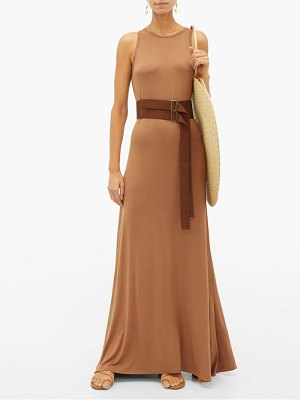 ALBUS LUMEN zara belted maxi dress