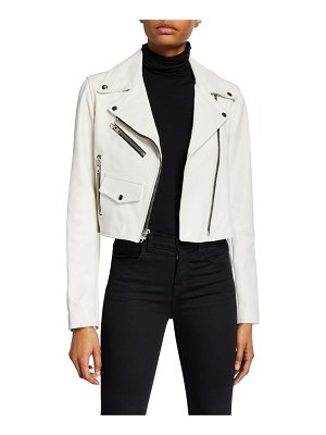 A.L.C. Beck Cropped Leather Moto Jacket