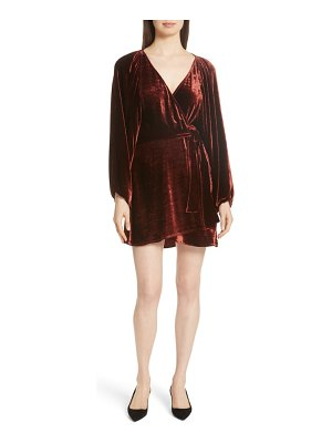 A.L.C. carlo velvet wrap dress
