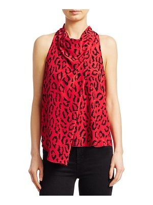 A.L.C. Ella Leopard Sleeveless Silk Blouse