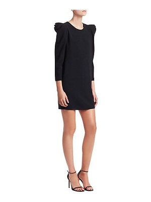 A.L.C. fiona crepe long sleeve mini dress
