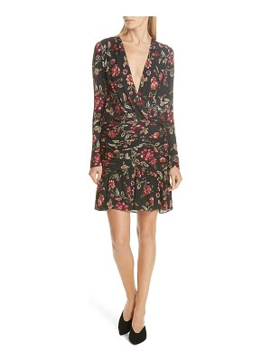 A.L.C. haven ruched floral print silk dress