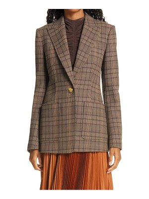 A.L.C. hicks check single button blazer