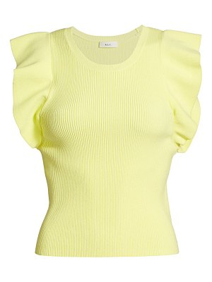 A.L.C. holley flutter-sleeve knit top