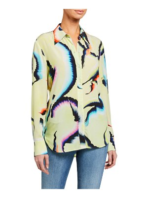 A.L.C. Jayne Printed Button-Down Top