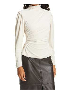 A.L.C. joss ruched mock neck top