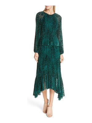 A.L.C. kamari velvet burnout midi dress