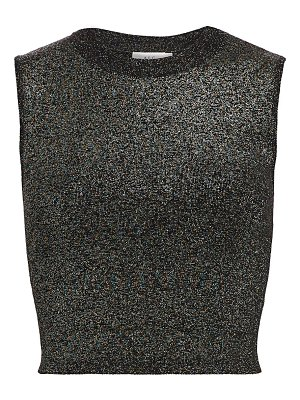 A.L.C. mariam lurex cropped top