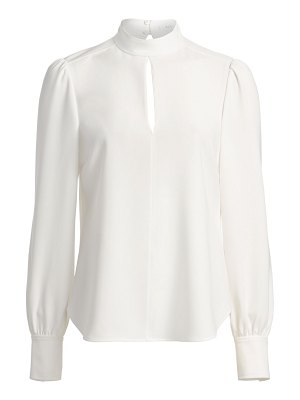 A.L.C. marina long-sleeve crepe blouse