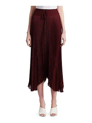 A.L.C. maya tie waist pleated midi skirt