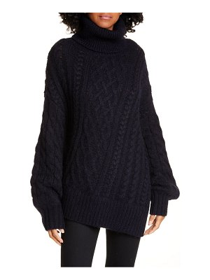 A.L.C. nevelson turtleneck asymmetrical cable knit sweater