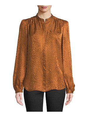 A.L.C. Owens Button-Front Silk Long-Sleeve Top