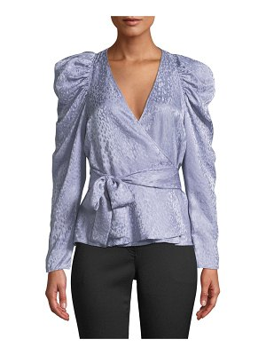 A.L.C. Palermo Silk Long-Sleeve Wrap Top