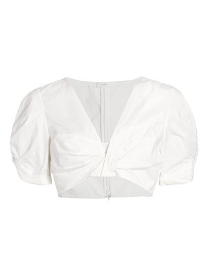 A.L.C. ryan puff-sleeve cropped top