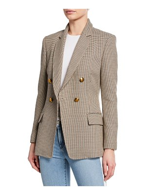A.L.C. Sedgwick Double-Breasted Houndstooth Blazer