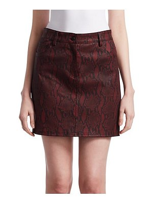 A.L.C. troy snakeskin mini skirt