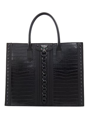 ALDO aboma structured faux leather tote in black/black at nordstrom