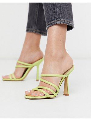 ALDO arianna strappy heel sandal in lime yellow-green