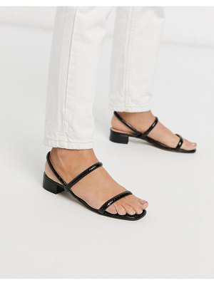 ALDO candidly low heel sandal with tubular strap in black