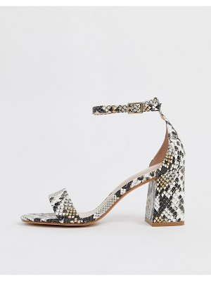 ALDO eteisa heeled sandals in snake-multi