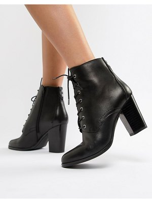 ALDO ibauvia leather heel lace up boots