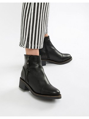 ALDO leather flat ankle boots