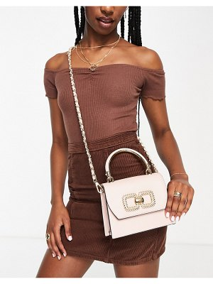 ALDO oneana cross body bag with gold detail in rose pink