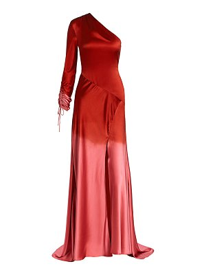 Alejandra Alonso Rojas dip-dye silk one-shoulder gown