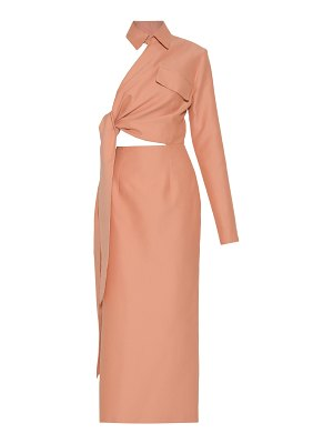 Aleksandre Akhalkatsishvili side wrap collared cotton maxi dress