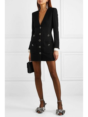 Alessandra Rich button-embellished wool-blend tweed mini dress