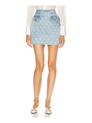 Alessandra Rich denim quilted mini skirt