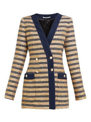 Alessandra Rich double breasted striped tweed jacket